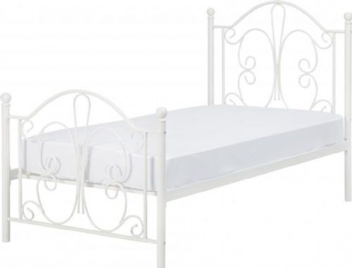 Hailey White Single Bed